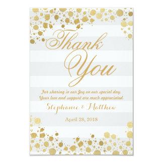Elegant Modern Faux Gold Splatters and Stripes 9 Cm X 13 Cm Invitation Card