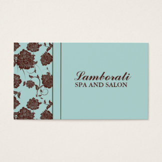Elegant Modern Floral Stylist Salon Hairdresser Business Card