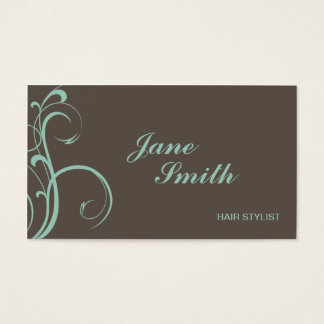 Elegant Modern Flower Floral Stylish Classy Business Card
