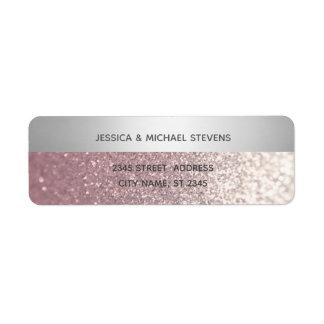 Elegant modern glittery silver stripe