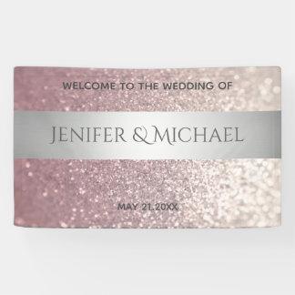 Elegant modern glittery silver stripe banner