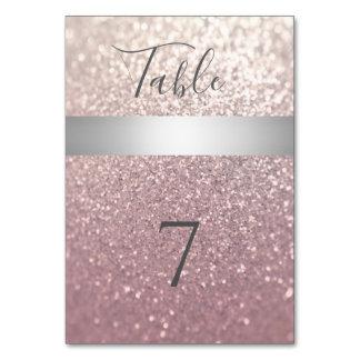 Elegant modern glittery silver stripe card