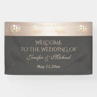 Elegant modern gold/bronze confetti wedding