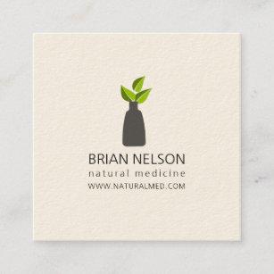 Botanical business cards zazzle nz elegant modern holistic medicine minimalist square business card reheart Choice Image