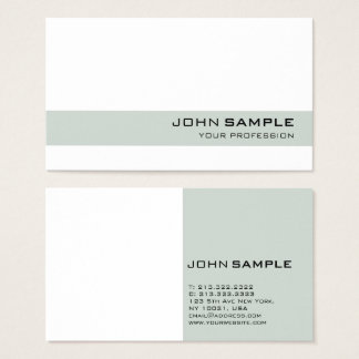 Elegant Modern Professional Simple Green White Business Card