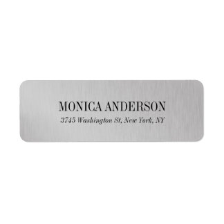 Elegant Modern Silver Grey Stylish Return Address Label