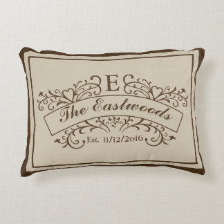 Elegant Monogram Accent Pillow