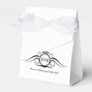 Elegant Monogram Gift Favor Box Party Favour Box