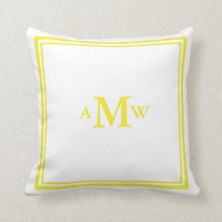 Elegant Monogram Pillow - Yellow