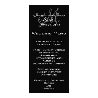 Elegant Monogram Wedding Menu Cards