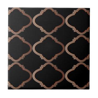 Elegant Moroccan Pattern Small Square Tile