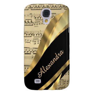 Elegant music sheet personalized galaxy s4 case