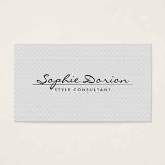 ELEGANT NAME ON VINTAGE PATTERN Business Card