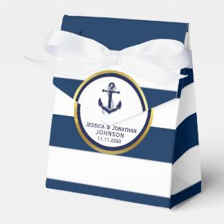 Elegant Nautical Navy Blue White Wedding Gift Wedding Favour Box