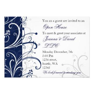 elegant navy Corporate party Invitation