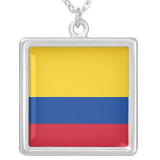 Elegant Necklace with Flag of Colombia