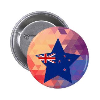Elegant New Zealand flag heart 6 Cm Round Badge