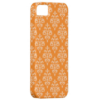 Elegant Orange Damask iPhone 5 Cover