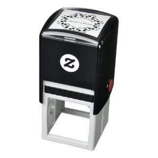 Elegant Ornate Abstract Border Return Address Self-inking Stamp