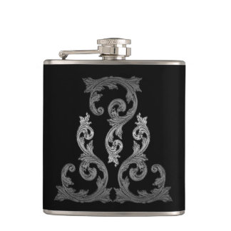Elegant Ornate Goth Design Flask