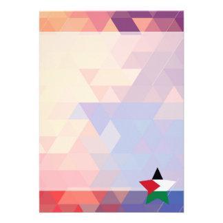 Elegant Palestine flag heart 13 Cm X 18 Cm Invitation Card