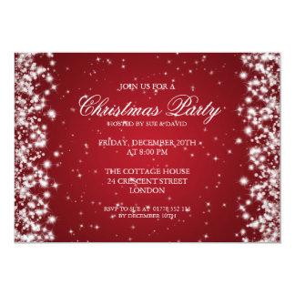 Elegant Party Sparkle Red 13 Cm X 18 Cm Invitation Card