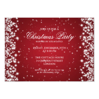 "Elegant Party Sparkle Red 5"" X 7"" Invitation Card"
