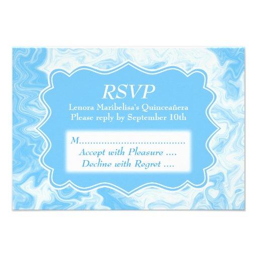 Elegant Pastel Blue Quinceanera Invitation