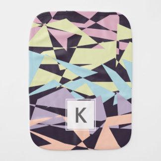elegant pastel color block geometric triangles burp cloth