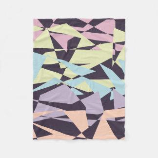elegant pastel color block geometric triangles fleece blanket