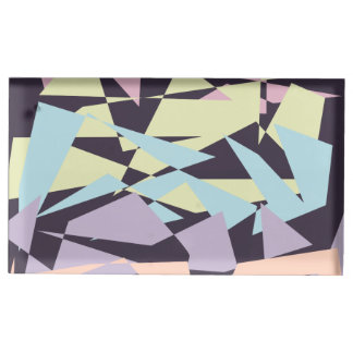 elegant pastel color block geometric triangles table card holder