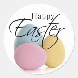Elegant Pastel Easter Egg Stickers