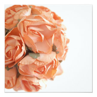 Elegant Peach Roses Bat Mitzvah Invitation