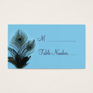 Elegant Peacock Place Card (turquoise)