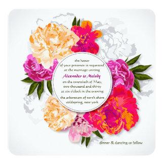 Elegant Peonies Wedding Invitation