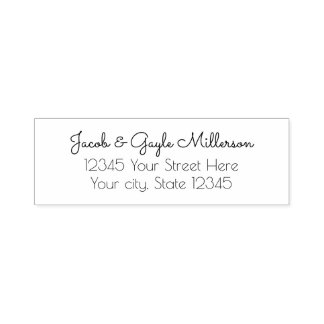 Elegant Personalized Return Address Self Ink Stamp