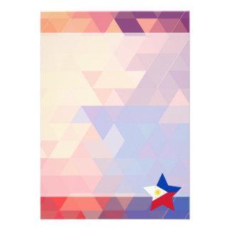 Elegant Philippines flag heart 13 Cm X 18 Cm Invitation Card