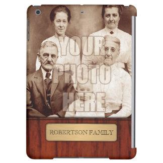 Elegant Photo Name Template Case For iPad Air