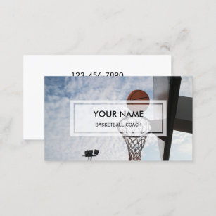 Basketball coach business cards zazzle nz elegant photo overlay basketball coach business card colourmoves