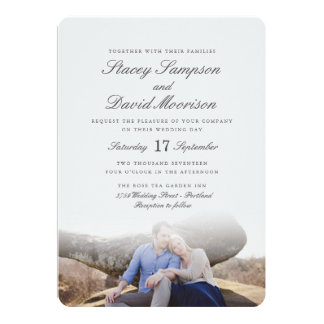 Elegant Photo Wedding Card