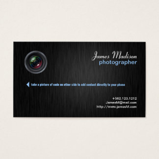 Elegant Photography Business Card w/ QR Code II