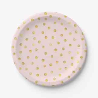 Elegant Pink And Gold Foil Confetti Dots Pattern Paper Plate  sc 1 st  Zazzle NZ & Gold Confetti Plates   Zazzle.co.nz