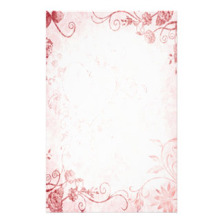 Elegant Pink and Red Vintage Wedding Stationery
