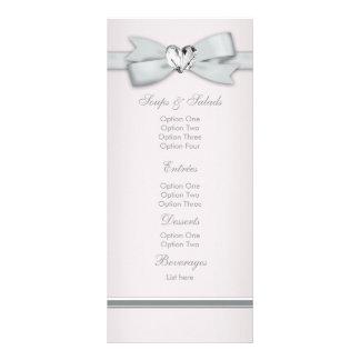 Elegant Pink Baby Shower Menu Cards Rack Cards