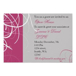 elegant pink Corporate party Invitation