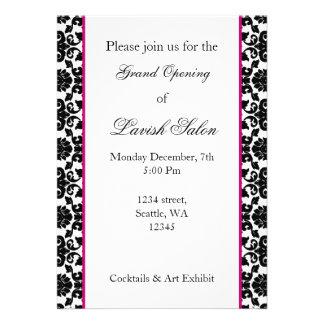 Elegant pink damask Corporate party Invitation