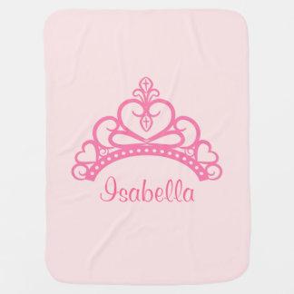 Elegant Pink Princess Tiara, Crown for Baby Girls Baby Blanket