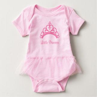 Elegant Pink Princess Tiara Crown for Baby Girls Baby Bodysuit