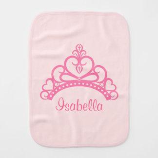 Elegant Pink Princess Tiara, Crown for Baby Girls Burp Cloth