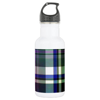 Elegant plaid with colorful stripes 532 ml water bottle